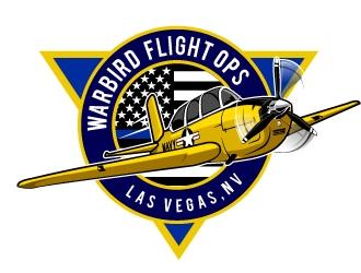 Warbird Flight Ops logo design