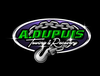 A.DUPUIS TOWING&RECOVERY logo design