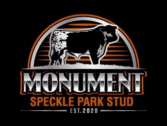 Monument Speckle Park Stud logo design
