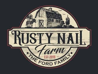 Rusty Nail Farm logo design