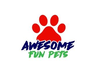 Awesome Fun Pets logo design by aryamaity