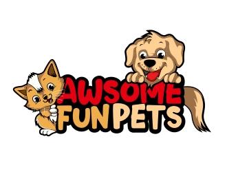 Awesome Fun Pets logo design by rahmatillah11