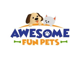 Awesome Fun Pets logo design by usef44