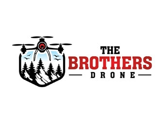 The Brothers Drone logo design