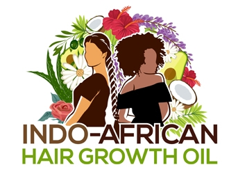 Indo-African Hair Growth Oil logo design