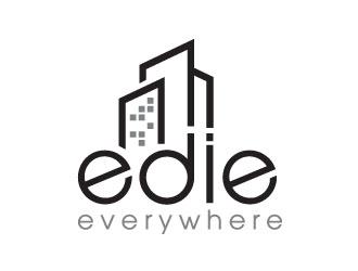 edie everywhere logo design