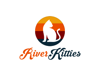 River Kitties logo design