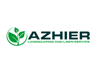 Azhier Landscaping and lawn service Logo Design