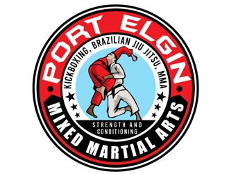 Port Elgin Mixed Martial Arts logo design by DreamLogoDesign