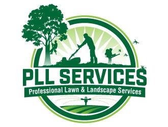 PLL Services  -  Professional Lawn & Landscape Services logo design