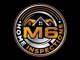 M6 Home Inspections logo design