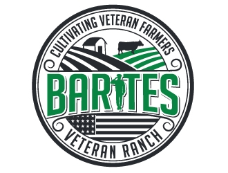 Barites Veteran Ranch logo design