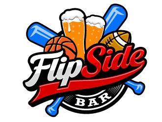 FlipSide Bar logo design