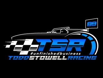 TSR Todd Stowell Racing logo design