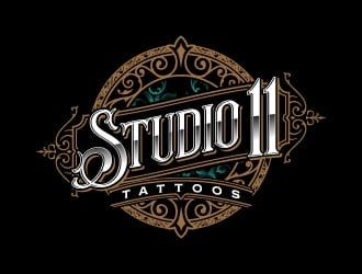 Studio 11 Tattoos logo design