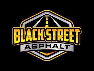 Black Street Asphalt logo design