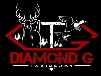 Diamond G Taxidermy Logo Design