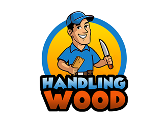 Handling Wood logo design