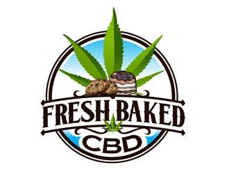 Fresh Baked CBD / FreshBakedCBD.com logo design