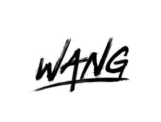 WANG logo design