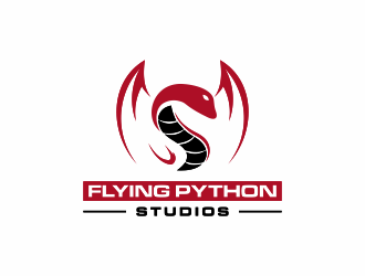 Flying Python Studios logo design