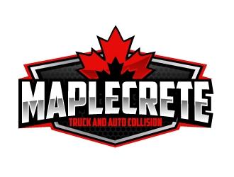 Maplecrete Truck and Auto Collision logo design