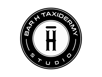 Bar H Taxidermy (Studio)  logo design