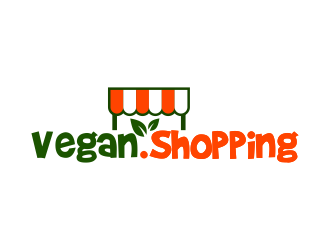 Vegan.Shopping logo design