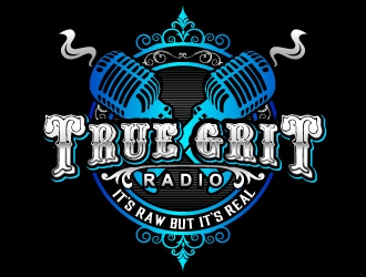 True Grit Radio  logo design