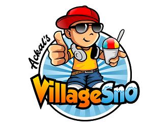 Ackal's Village Sno logo design