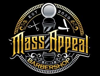 Mass Appeal Barbershop  logo design