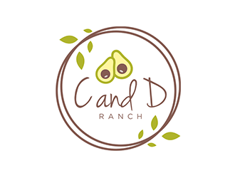 C and D Ranch logo design