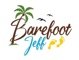 Barefoot Jeff  logo design