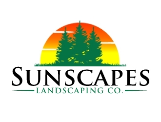 Sunscapes Landscaping Co. logo design