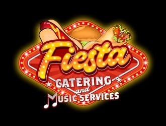 Fiesta, catering and music services logo design