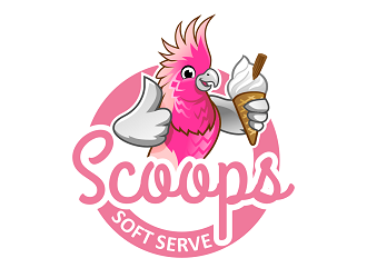 Scoop Soft Serve logo design