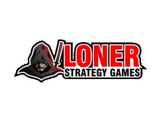 Loner Strategy Games logo design
