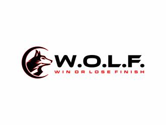 W.O.L.F. (Win or Lose Finish) logo design winner