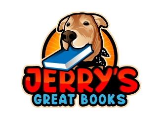 Jerrys Great Books logo design