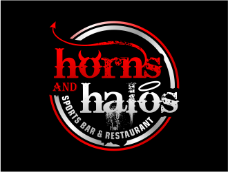 Horns and Halos  logo design