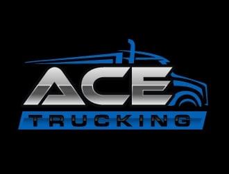Ace Trucking logo design