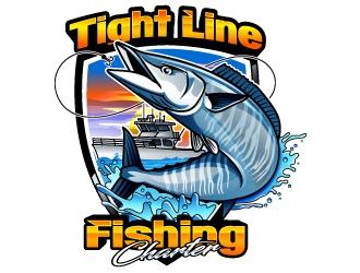 Tight Line Fishing Charter  logo design