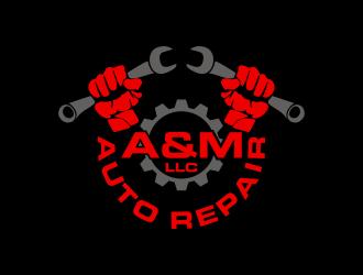 A&M Auto Repair LLC logo design