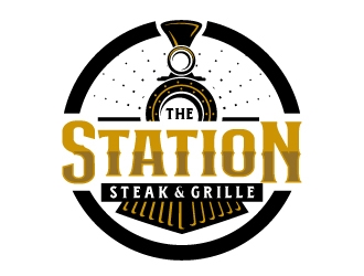 The Station Bar & Grille logo design
