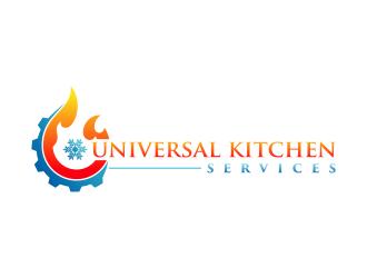 Universal kitchen services logo design