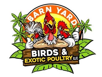 Barn Yard Birds & Exotic Poultry LLC logo design