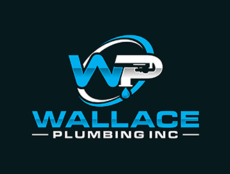 Wallace Plumbing Inc. logo design