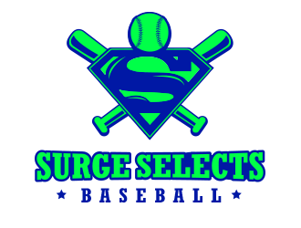 Surge Selects baseball  logo design