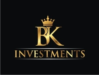 B. K. Investments logo design