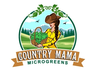 Country Mama Microgreens logo design